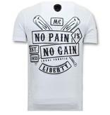 Local Fanatic Exklusiv Män T shirt tryck - Sons of Anarchy MC - 11-6369W - Vit