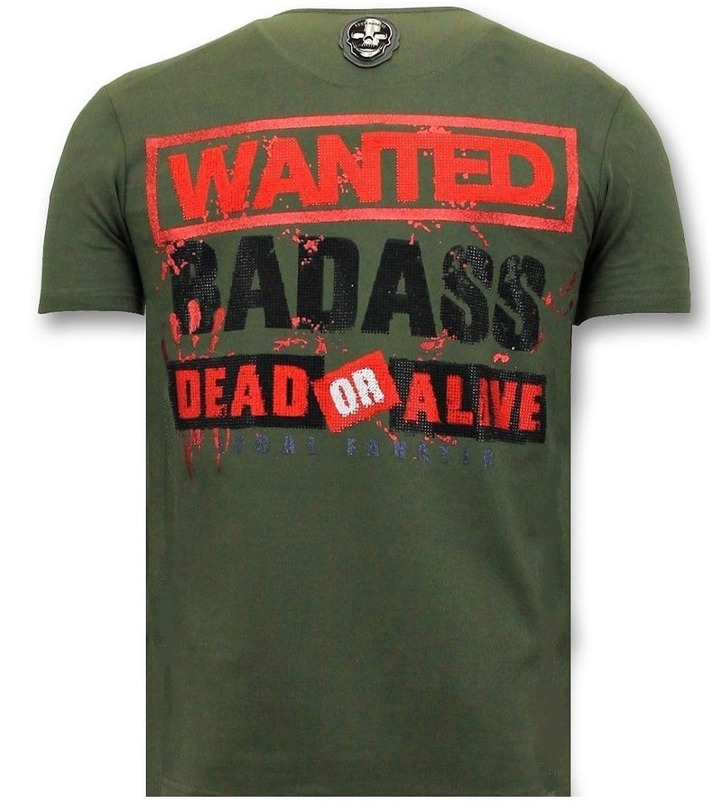 Local Fanatic Cool T-shirt Män - Bloody Chucky Angry Print - Grön
