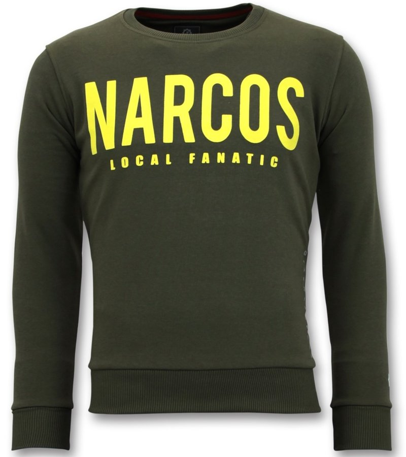 Local Fanatic Exklusiv Män s - Narcos Tröja - Grön