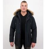 Tony Backer Parkas Vinterjackor Herr - Jacka med äkta Päls - Blå