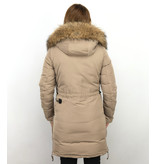 Macleria Damer Parka - Vinterjacka Quilted Jacka - DM8836B - Beige