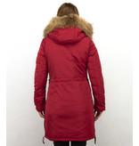 Macleria Parka Damer  - Vinterjacka Quilted Jacka - DM8836R - Röd