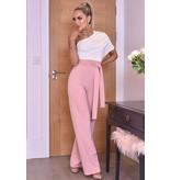 CATWALK Dior ena axeln rynkad Jumpsuit - Pink