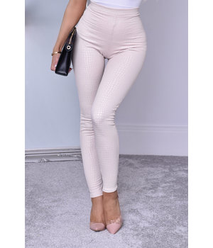 CATWALK Ayana Animal Print Trousers - kvinnor - Beige