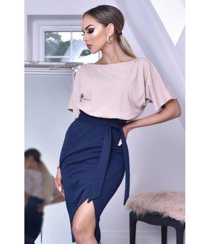 CATWALK Sabrina Batwing Contrast Dress - kvinnor - Navy