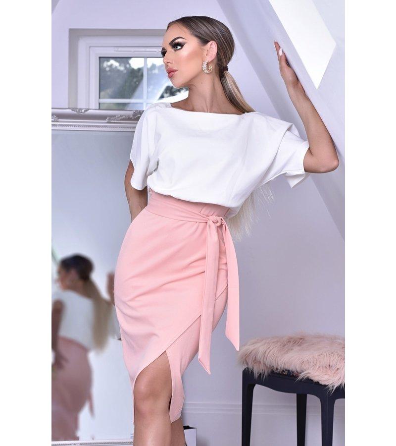 CATWALK Sabrina Batwing Contrast Dress - kvinnor - Pink