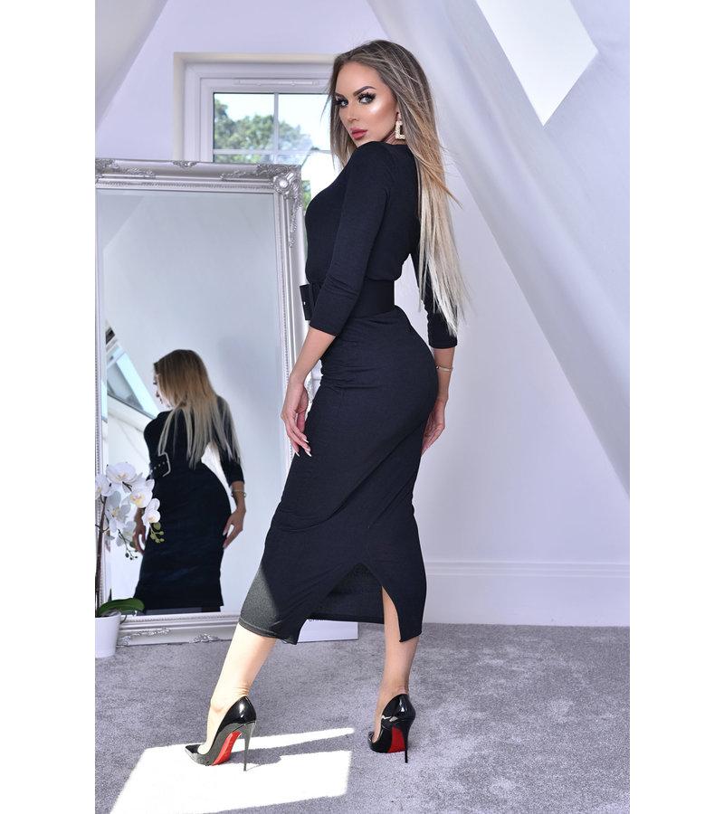 CATWALK Eliana Midaxi svart klänning - kvinnor - Svart