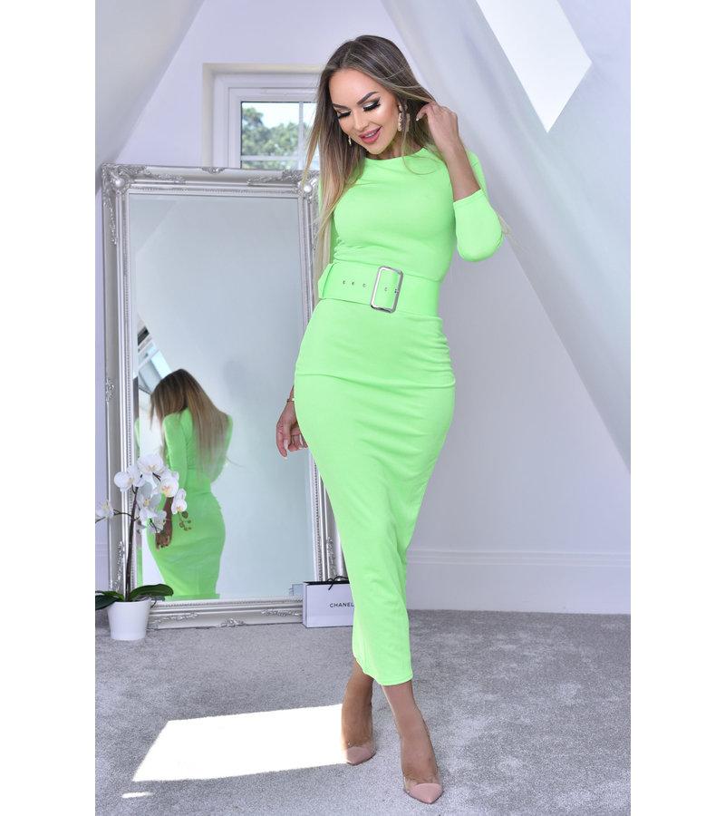 CATWALK Eliana Midaxi svart klänning - kvinnor - Grön