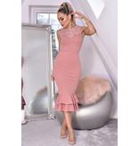 CATWALK Miranda Lace Fishtail Dress - kvinnor - Pink