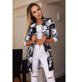 CATWALK Audrey Floral Long Jacket - kvinnor - Svart