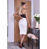 CATWALK Kellie PU Midi Skirt - kvinnor - Vit