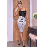 CATWALK Misha Ivory Midi Skirt - kvinnor - Beige