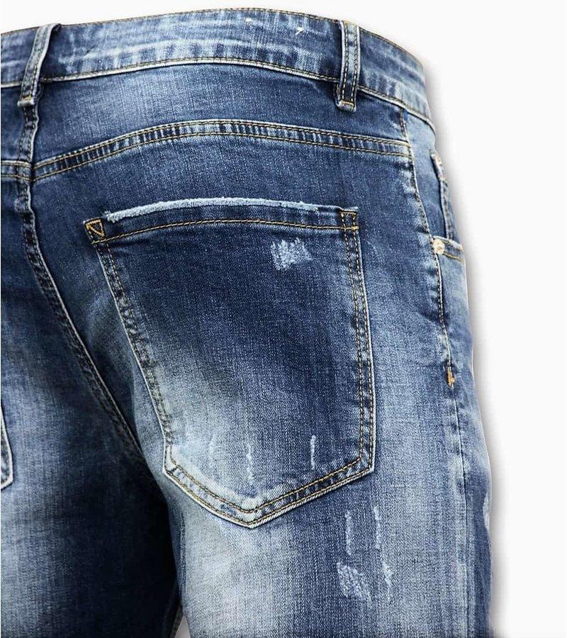 Enos Män Short Pants - Ripped Short - 9085 - Blå