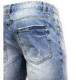 Enos Män Short Pants - Ripped Short - 9073 - Blå