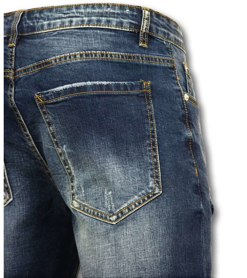 Enos Män Short Pants - Jeans Short - 9082 - Blå