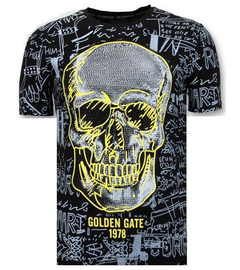 Enos Män T-shirt Skull - Stenar - 7356 - Svart