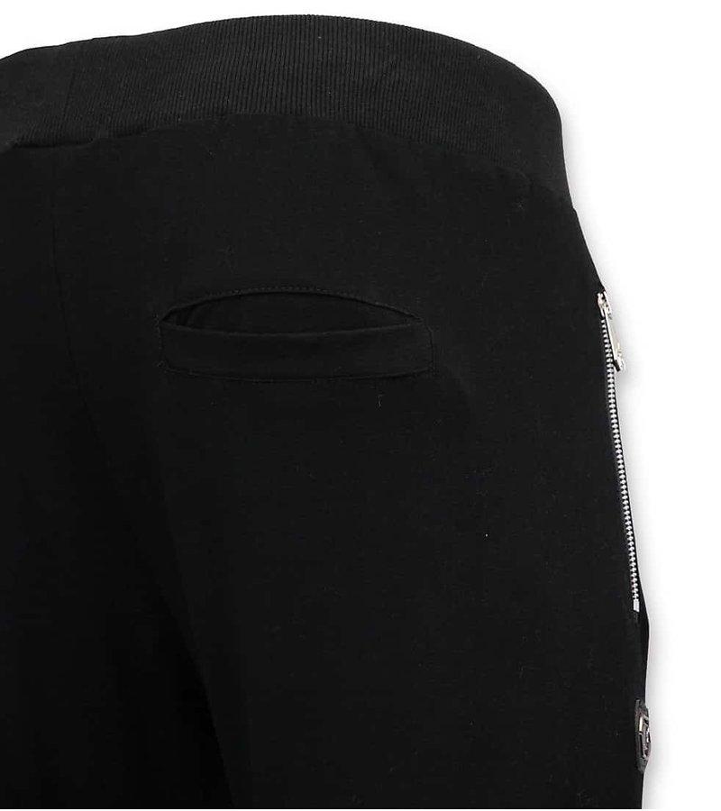 Enos Träningsoverall Män med Print - White Skull - Black