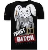 Local Fanatic Män T shirt tryck - Lita No Bitch - 11-6383Z - Svart