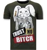 Local Fanatic Lyx Män T-shirt - Lita No Bitch - 11-6383G - Grön