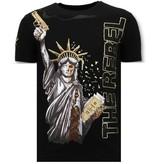 Local Fanatic Lyx Män T skjorta - The Rebel - 11-6387Z - Svart