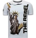 Local Fanatic Exklusiv Män T-shirt - The Rebel - 11-6387W - Vit