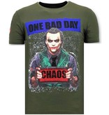 Local Fanatic Män T-shirt Exclusive - The Joker Man - 11-6363G - Grön