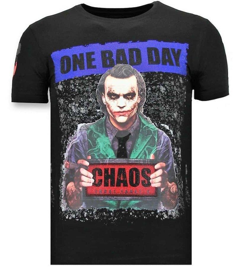 Local Fanatic Lyx Män T-shirt - The Joker Man - 11-6363Z - Svart