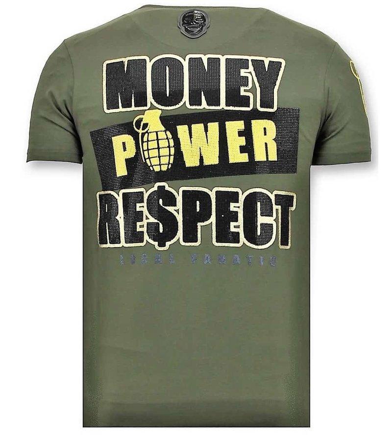 Local Fanatic Lyx Män T-shirt - Cosa Nostra Mafioso - 11-6371G - Grön