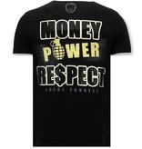Local Fanatic Exklusiv Män T-shirt - Cosa Nostra Mafioso - 11-6371Z - Svart