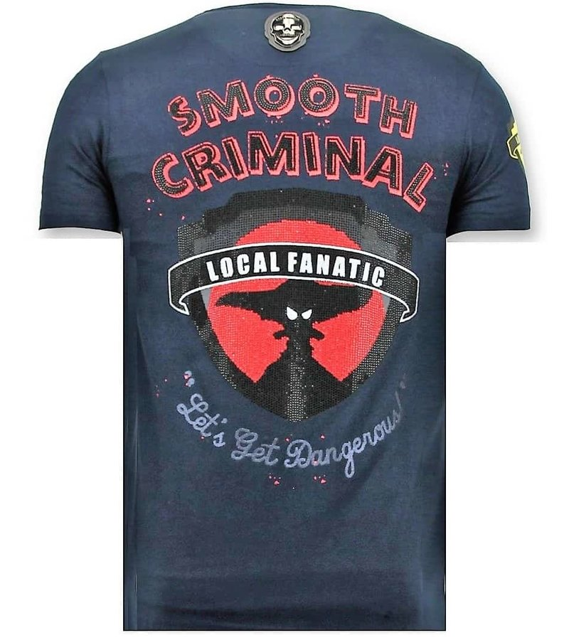 Local Fanatic Exklusiv Män T-shirt - Brott Empire - 11-6389B - Blå