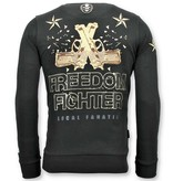 Local Fanatic Exklusiv Män Sweatshirt - The Rebel - 11-6392Z - Svart