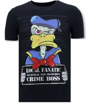 Local Fanatic Exklusiv Män T-shirt - Alcatraz Prisoner - 11-6385B - Blå