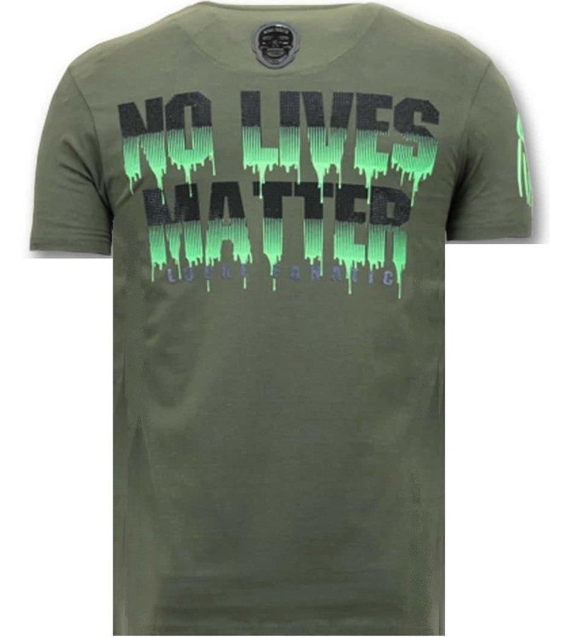 Local Fanatic Tuff Män T-shirt - Predator Hunter -11-6370G - Grön