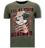 Local Fanatic Exklusiv Män T-shirt - Freddy Krueger - 11-6364G-  Grön