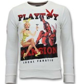 Local Fanatic Exklusiv Män  - The Playtoy Mansion - 11-6391W - Vit