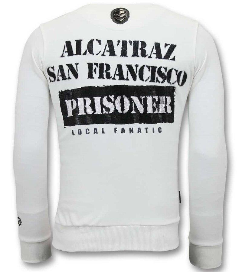 Local Fanatic Exklusiv Män - Alcatraz Prisoner - 11-6390W - Vit