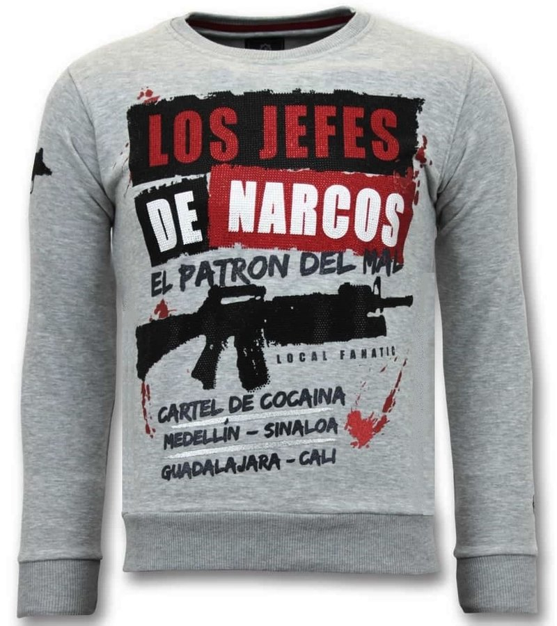 Local Fanatic Exklusiv Män's - Los Jefes The Narcos - 11-6382G -  Grå