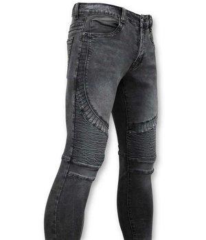 True Rise Basic Biker Jeans Män - U141-5 - Grå