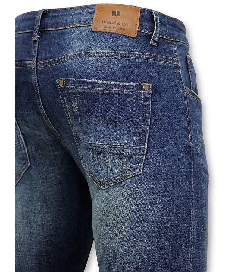 True Rise Classic Basic Jeans Män - D-3021 - Blå