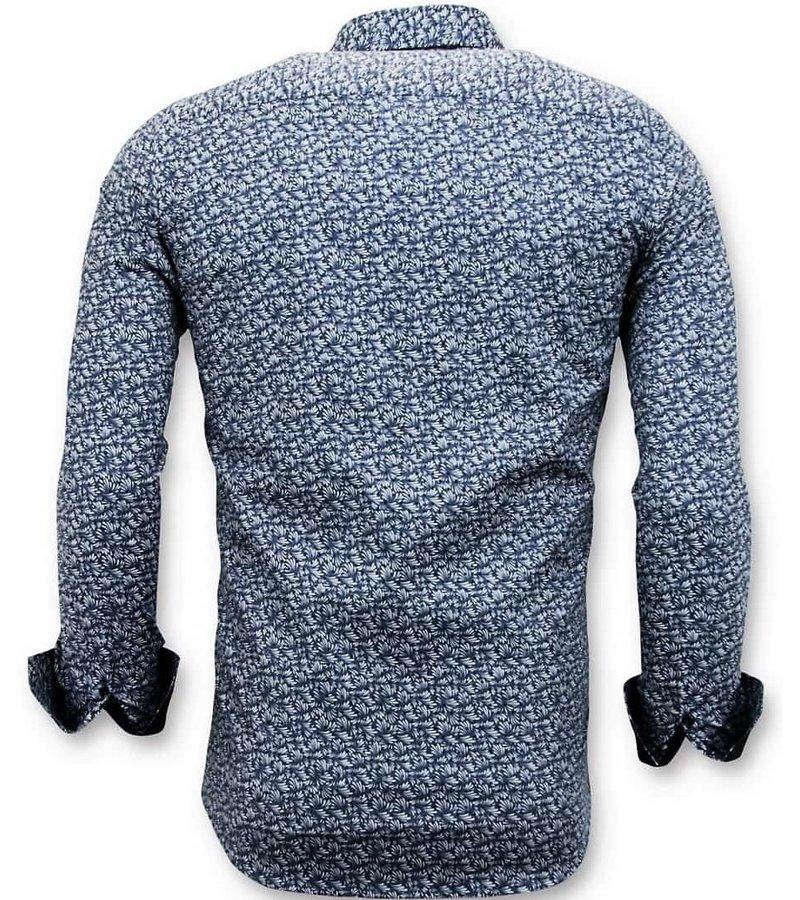 Tony Backer Skräddarsydda Shirts Män - Slim Fit Skjortor - 3045 - Blå