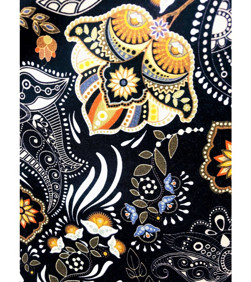 Tony Backer Separata Lyx Herrskjortor - Digital Printing - 3050 - Svart