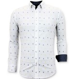 Tony Backer Italienska Herrskjortor - Slim Fit Shirt  - 3047 - Vit
