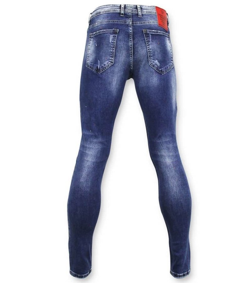 True Rise Exclusive Ripped Jeans - Skinny Fit - A18C - Blå