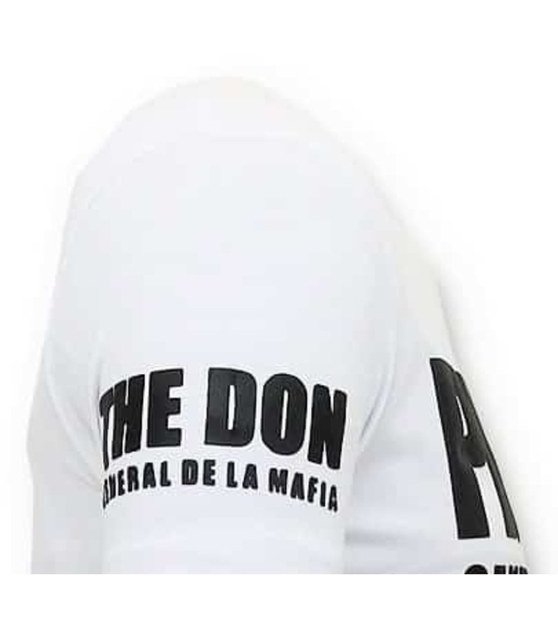 Local Fanatic Exklusiv T-shirt Män - Padrino Corleone - Vit
