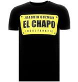 Local Fanatic Lyx T-shirt - Joaquin El Chapo Guzman - Svart