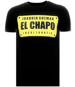 Local Fanatic Lyx T-shirt - Joaquin El Chapo Guzman - Svart