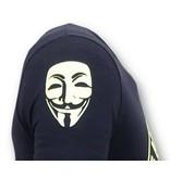 Local Fanatic Exklusiv Män T-shirt - Vi är Anonyma - Blå