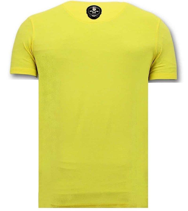 Local Fanatic T-shirt Män Med Tryck - Zwitsal Med Solskydds - Gul