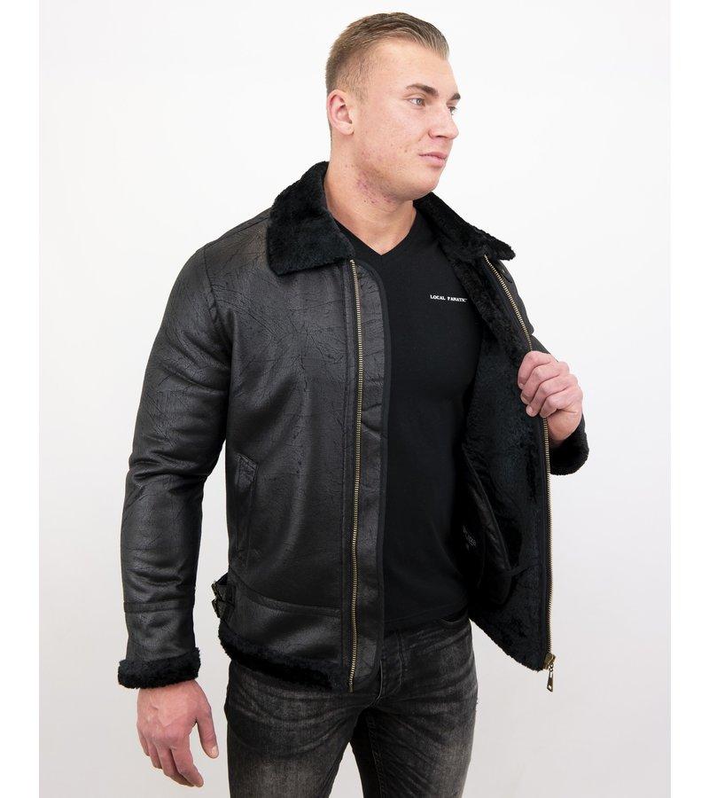 Tony Backer Shearling jacket - Lammy Coat - Svart