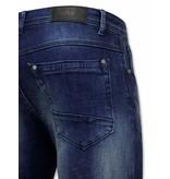 True Rise Slim Fit Jeans För Män - D-3059 - Blå